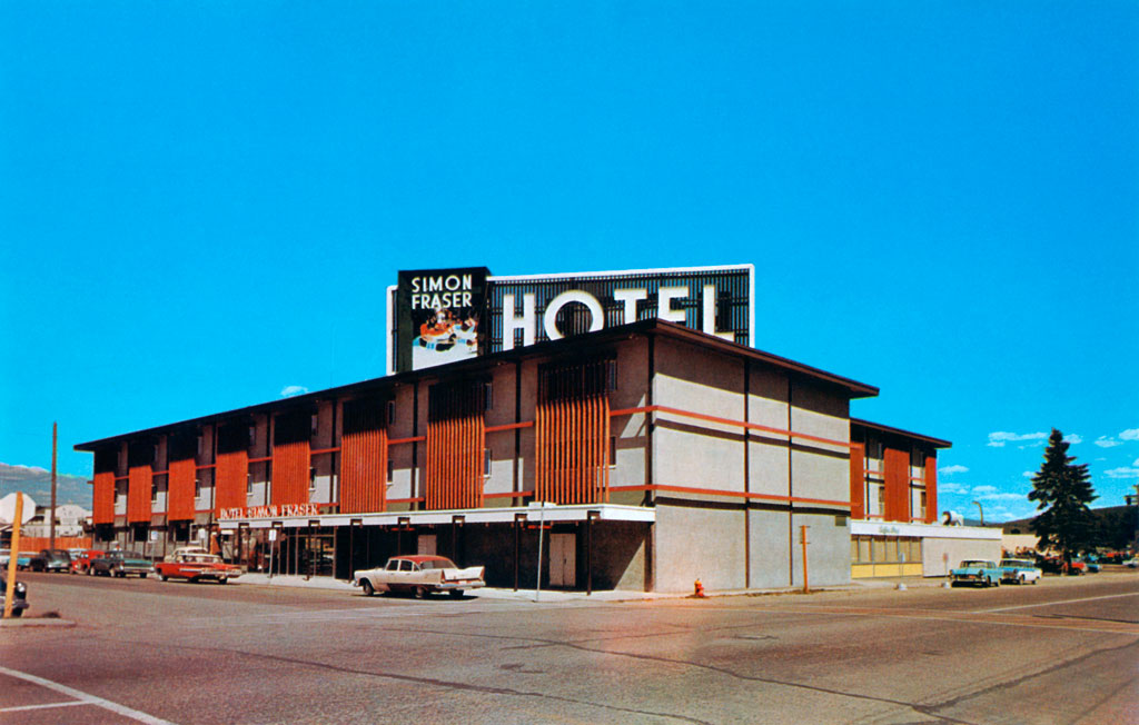 hotel simon fraser in prince george british columbia 1957. Black Bedroom Furniture Sets. Home Design Ideas