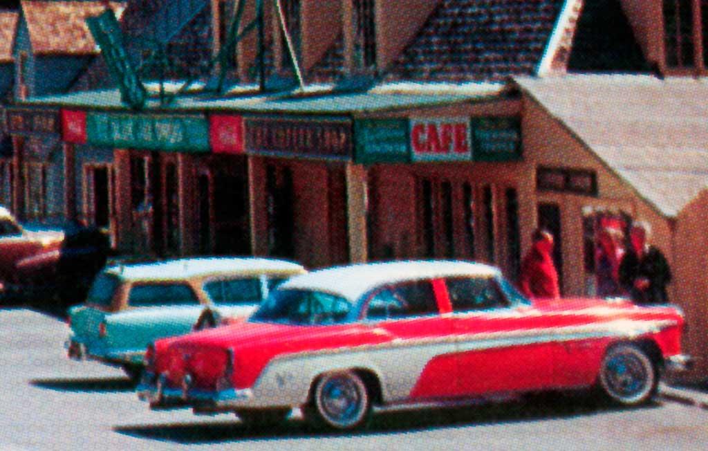 Shopping Center In Blue Jay California 1955 Desoto
